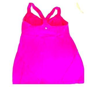 Workout top/bra w/ pretty ribbon stitching